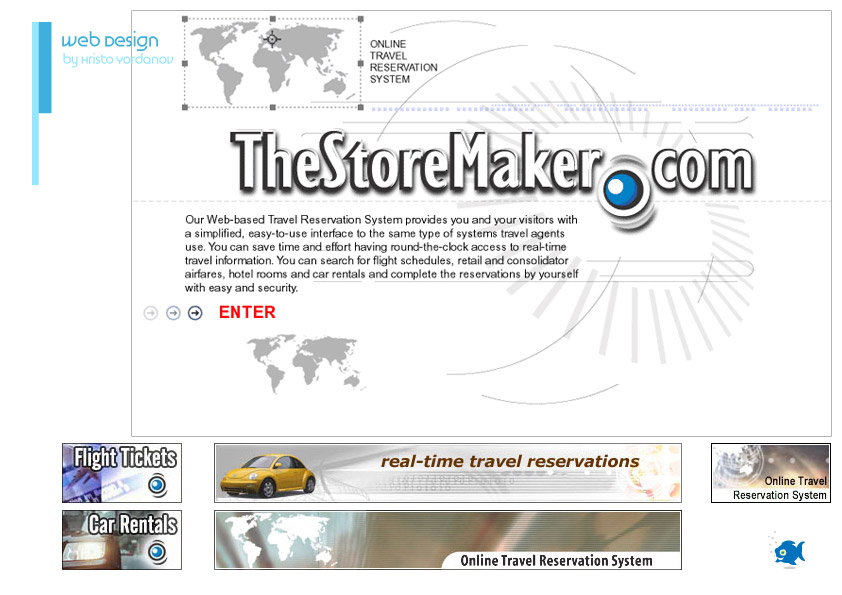 web design and web banners for TheStoreMaker.com